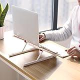 Laptop ständer Laptop Stand Faltbare Notebook Computer Steht Portable Laptop Tray Für Laptops Bis Zu 17 Zoll - Weiß