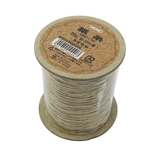 シモジマ ヘイコー リボン 紐 紙糸 薄茶 1mmx30m巻 001500660