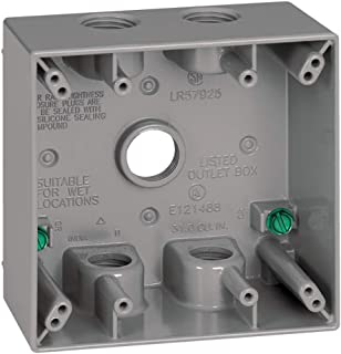 Sigma Electric, Gray 14353-5 3/4-Inch 5 Hole 2-Gang Box