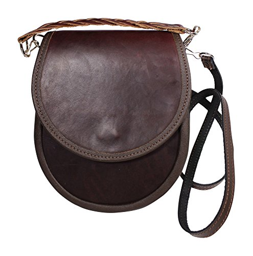 Fabulous Leder braun dunkelbraun Traditionelle Sporran Handtasche
