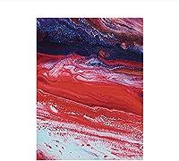 キャンバスウォールアート抽象赤青キャンバス絵画ウォールアートプリントポスターアートワークリビングルームの写真寝室の装飾40x60cmフレームなし