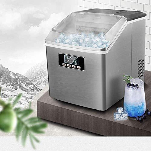 51IXVyeC7CL - SEESEE.U Eismaschine, quadratische Eiswürfel in 12-20 Minuten fertig, 25 kg EIS in 24 Stunden herstellen, tragbare kleine Eiswürfelbereiter für Arbeitsplatte Home Bar Perfekt für Partys Mixgetränke