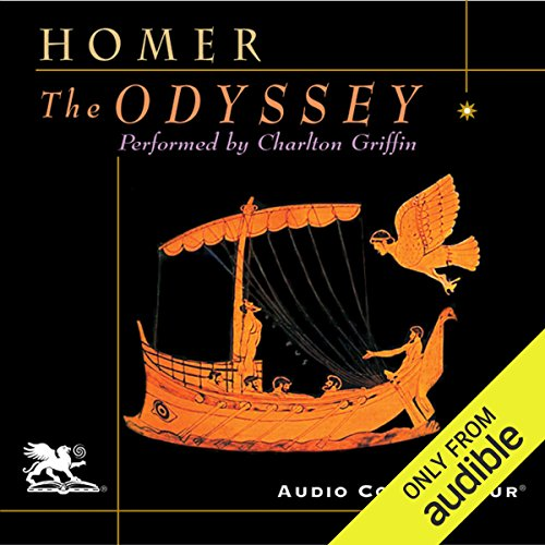 The Odyssey                   By:                                                                                                                                 Homer,                                                                                        A. T. Murray - translator                               Narrated by:                                                                                                                                 Charlton Griffin                      Length: 16 hrs and 57 mins     119 ratings     Overall 4.4