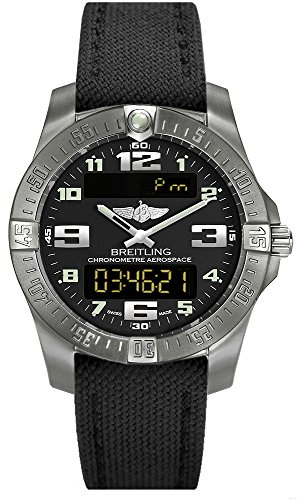 (Canvas Strap new style) Breitling Mens Aerospace Evo Titanium Watch E7936310/BC27