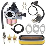 Trustsheer GXV160 GXV120 Carburetor w Tune Up Kit Air Filter for Honda HR194 HR195 HR214 HRA214 HR215 HR216 HRA216 HRC216 Lawn Mower GXV140 Motor Engine Carb 16100-ZE6-W01