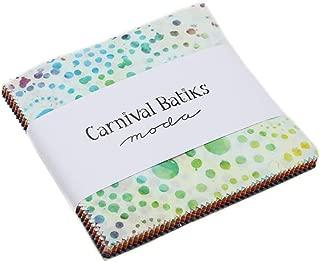 MODA Carnival Batiks Charm Pack Classics; 42-5 inch Precut Fabric Quilt Squares