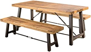 Christopher Knight Home Austin | Acacia Wood Dining Set | with Teak Finish, Color