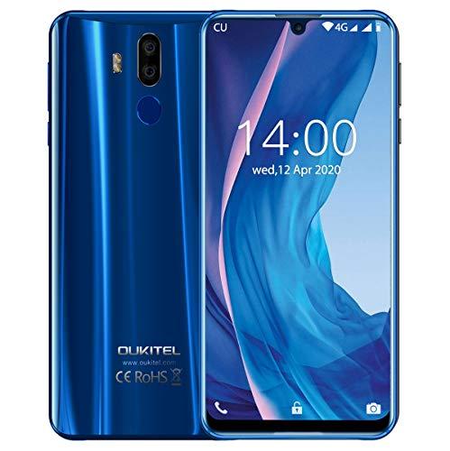 Großer Bildschirm Smartphone Ohne Vertrag,OUKITEL K9 7,12 Zoll FHD+ 4G Dual SIM Smartphone, 4GB RAM+64GB ROM 6000 mAh 30 Watt Schnellladung Kostenlose Handyhülle EIN Jahr kostenlose Garantie (Blau)