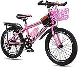 Fahrräder Fahrrad Kind / 18inch / 20inch / 22inch-Jungen-Mädchen-Fahrrad-Student Travel Fahrrad Variable Speed Customization Fahrrad 5 ~ 15 Jahre Im Freien lalay ( Color : Pink , Size : 22inches )