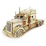 CHANG Car Madera Maquetas Heavy Truck para Construir Maquetas para Montar Set De Construcción Puzzle 3D para Niños Y Adultos