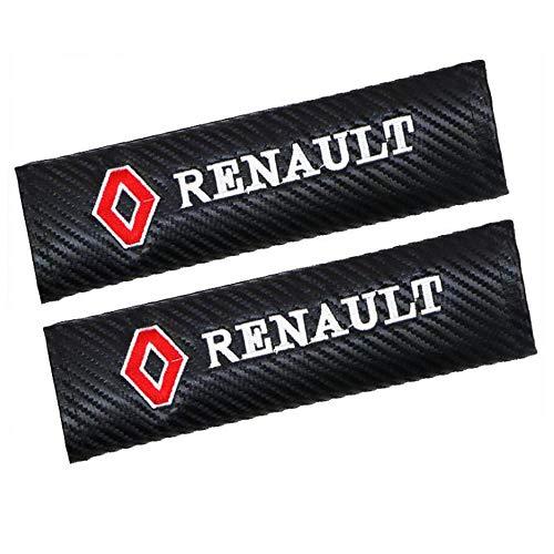 WHALLO Spallina Copri Cintura di Sicurezza per Auto, Adatta per Renault Livello di Protezione Medio Spallina Comfort con Clip di Sicurezza
