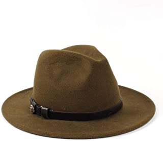 LiJuan Shen 2019 Men Women Wool Fedora Hat Dance Party Hat Casual Wild Church Hat Panama Jazz Hat Size 56-58CM