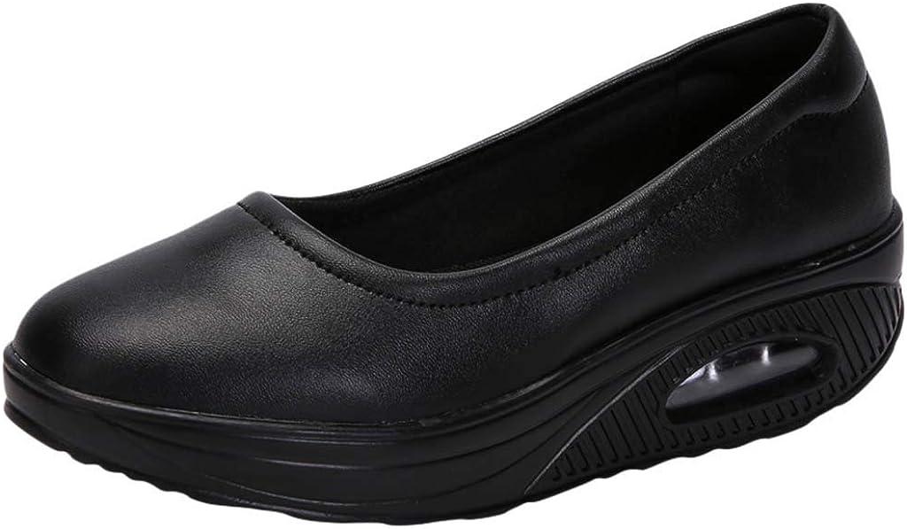 Hessimy Women's Walking Sock Shoes Sneakers Slip-on Nurse Shoes