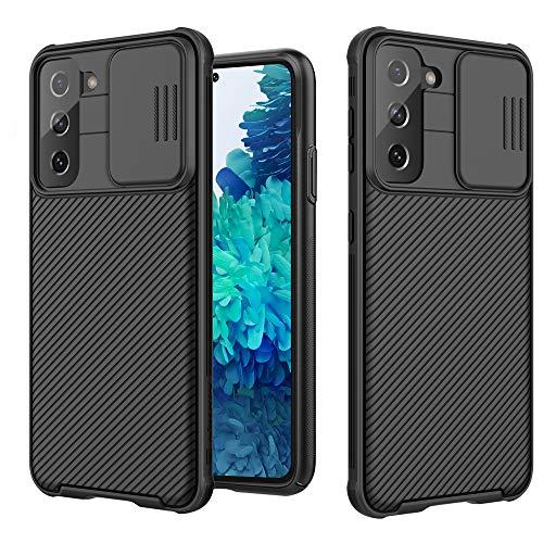 SAMCASE Cover per Samsung Galaxy S21 5G, Protezione Fotocamera CamShield Custodia, Ultra Sottile Bumper Protettiva Leggero Anti Graffio Duro PC Back Case Cover per Samsung Galaxy S21 5G (Nero)
