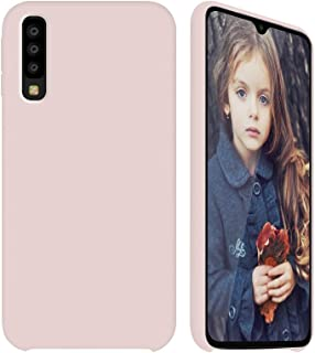 GKK for Samsung Galaxy A50 Case - Liquid Silicone Case + Soft Flannel Lining + Comfortable Touch (Pink)