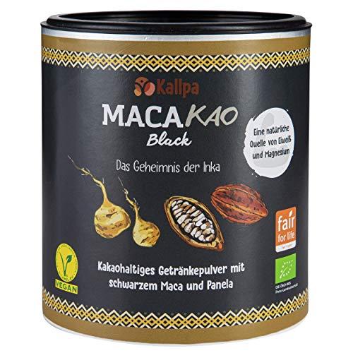Macakao Black 300g - Das Power Kakaopulver mit schwarzem Maca (45%), Reich an natürlichen Mineralien wie Phosphor, Eisen und Magnesium ✓ 12% pflanzlicher Eiweißanteil. Ohne Chemie ✓