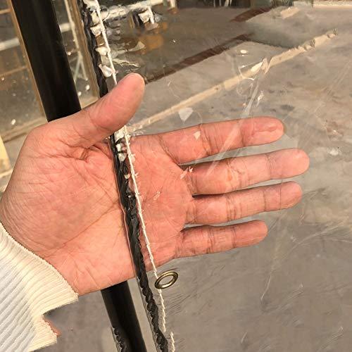 QIANGDA Bâche De Protection Paillage Plastique Film Doux Coupe-Vent Facile À Plier Couverture De Piscine De Plein Air, Clair, Épaisseur 0.3mm (Couleur : B, Taille : 2mx3m)