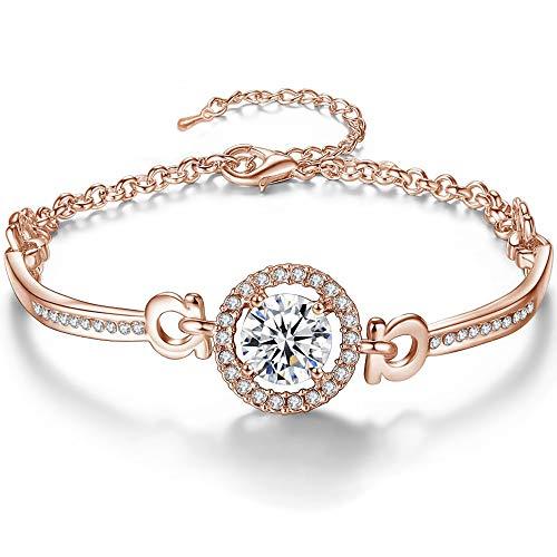 YooAi Pulseras para Mujer, Pulsera Ajustable de Diamantes de imitación para Mujer