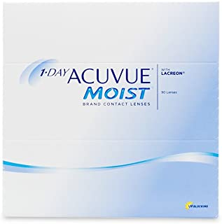 Acuvue 1-Day Moist Pack of 90 Contact Lens, -5.25 Diopters, 14.2 mm