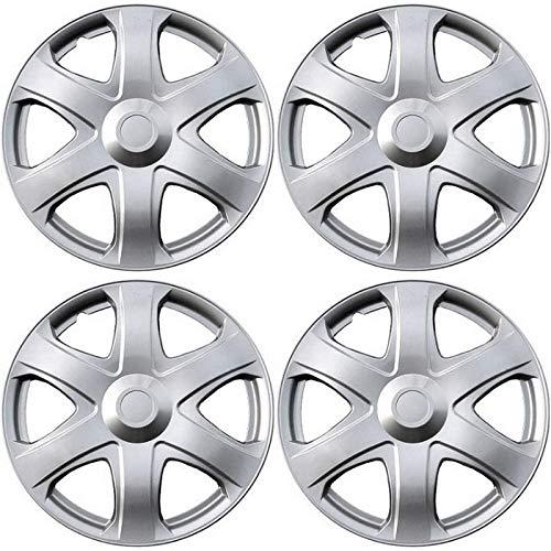 Motorup America Auto Hubcap Set of 4, 16 inch Snap On Wheel Covers - Fits 09-10 Toyota Matrix
