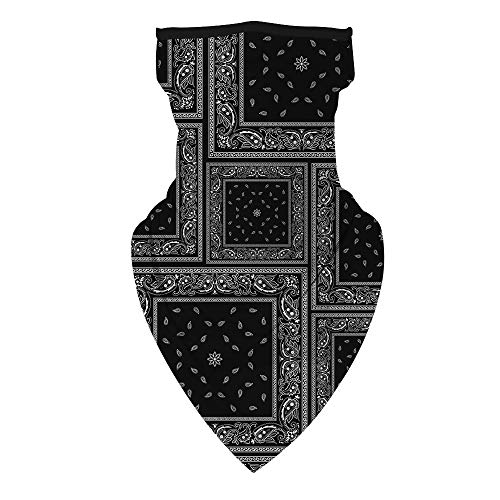 Timemory Unisex Seamless Triangle Face Rave Bandana Neck Gaiter Tube Cover, Motorcycle Face Bandana for Women Men Face Scarf #Print3