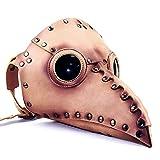 XWYWP Máscara de Halloween Gear Duke Halloween Party Cosplay Bird Mouth Mask Steampunk Plague Doctor Mascarillas Props para Mascaradas Disfraz Accesorio Incarnadine