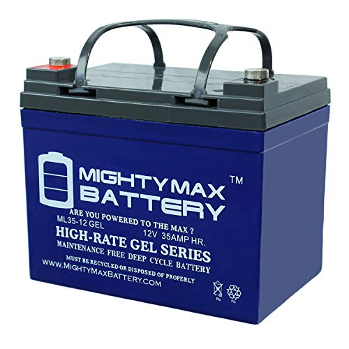 Mighty Max 12-Volt 35Ah Gel Lawn Tractor Battery
