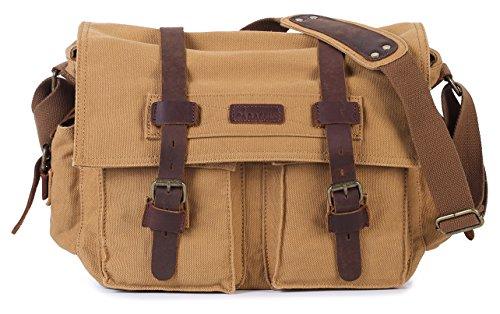 Paraffin Vintage Canvas Messenger Bag Satchel Bookbag Working Bag crossbody bag for Men and Women