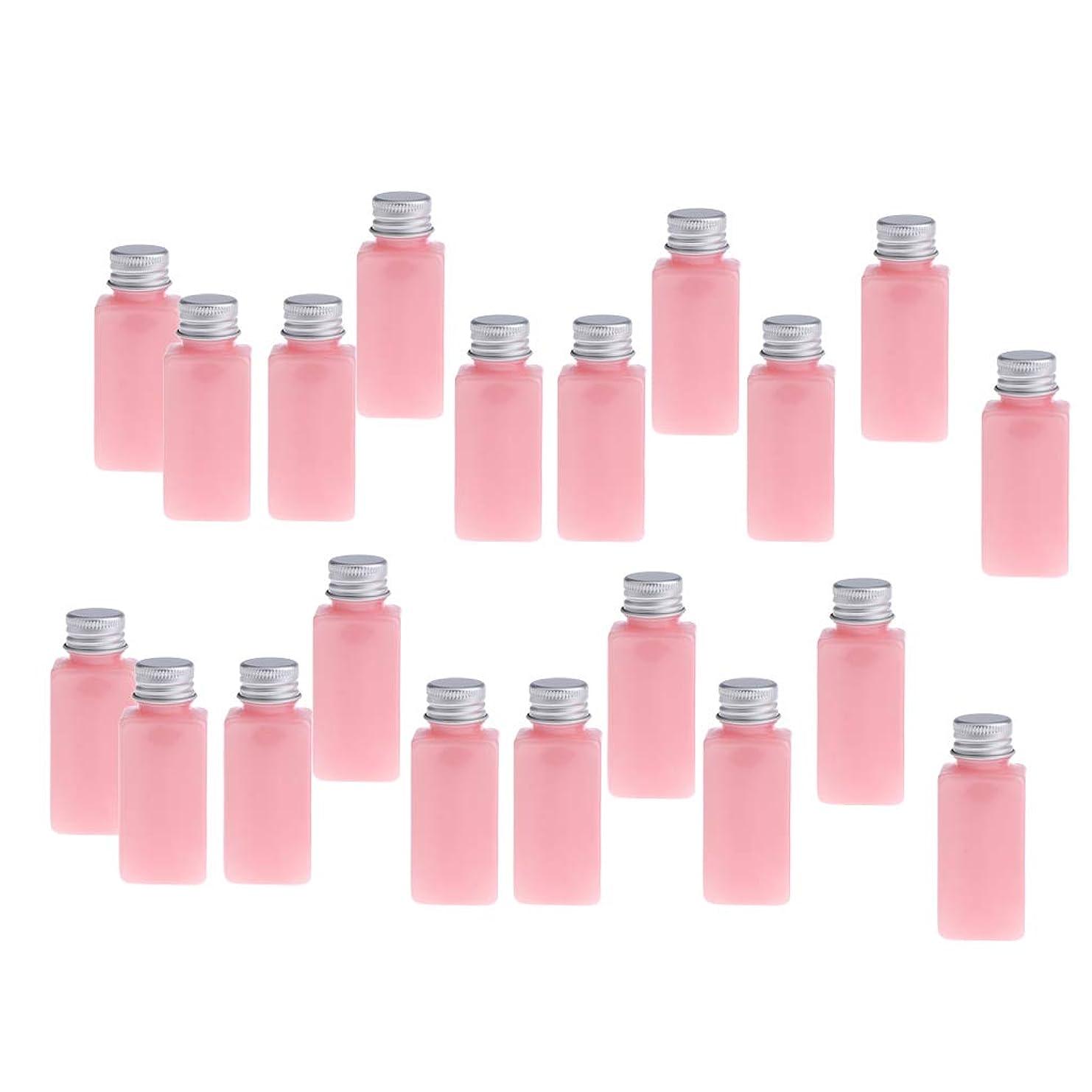 配当折るネックレットP Prettyia 約20本 化粧ボトル PETボトル コスメ 詰替え容器 旅行 便利 8色選べ - ピンクシルバー