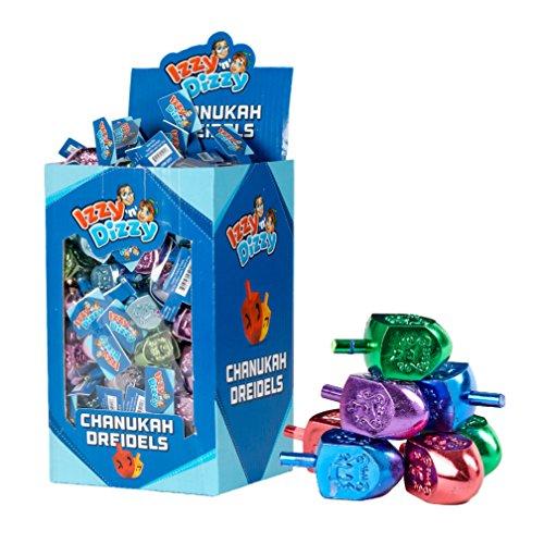 Izzy 'n' Dizzy 100 Medium Dreidels - Metallic Colored - Classic Chanukah Spinning Draidel Game and Prize - Bulk Value Pack