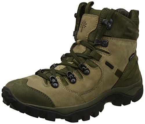 Woodland Men's Khaki Leather Trekking Boots - (10 UK)