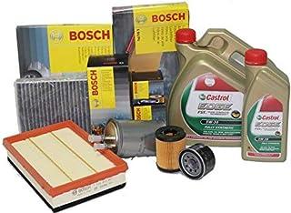 BH Kit de Cambio de Aceite Castrol LT6 5W30 Long Life + 4 filtros Bosch para