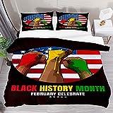 ATZTD Juego de ropa de cama transpirable, diseño de bandera de Estados Unidos, 3 piezas, funda de edredón (1 funda de edredón + 2 fundas de almohada), microfibra ultra suave
