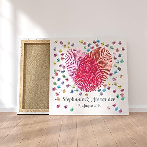 Gästebuch | Personalisierte Leinwand für Fingerabdrücke - 6
