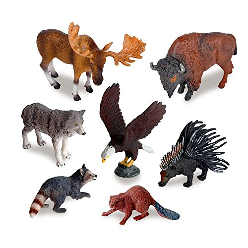 Ericoo Animal Toys Set Educational Resource Reallistic High Simulation North American Animals Figures with CPC Approval and ASTM Test -Anim006
