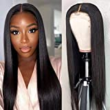 Lace Front Wigs Human Hair Pre Plucked with Baby Hair 20inch Deep Middle Part Lace Wig 150% Density Brazilian Straight Lace Front Human Hair Wigs for Black Women