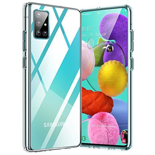 TORRAS für Samsung Galaxy A51 Hülle [Transparent Vergilbungsfrei] [Hard Robuste] Schutzhülle Samsung A51 Case Dünn Slim Kratzfest Handyhülle für Samsung Galaxy A51 - Transparent