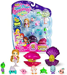 Splashlings Luminos 12 Pack - Mermaid Collection with 2 Hidden Mystery Glow in The Dark