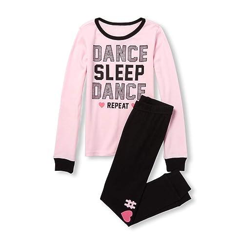 b29f4b67f0f3 The Children s Place Big Girls  Long Sleeve Dance Pajama Set