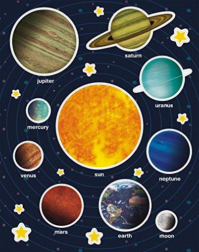 APLI Kids - Bolsa de gomets, 12 hojas, Sistema solar