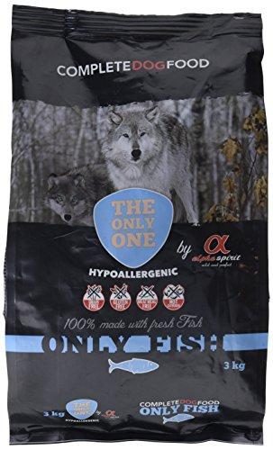 Alpha Spirit 42025  Only Fish - Alimento completo seco hipoalergénico para perros adultos, 3000 gr ✅