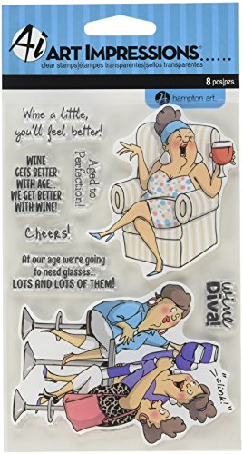 Hampton Art SC0677 Art Impressions People Clear Rubber Stamps 4'X6'-Aged to Perfection