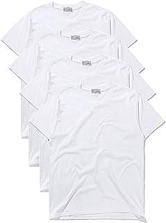 Macoking tシャツ メンズ 半袖 無地 吸汗 速乾 インナーシャツ おおきいサイズ セット クルーネック 厚手 4枚組 3枚組 綿100%