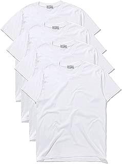 Macoking tシャツ メンズ 無地 吸汗 速乾 半袖tシャツ インナーシャツ セット 厚手 6.2オンス クルーネック おおきいサイズ 4枚組 3枚組 綿100%