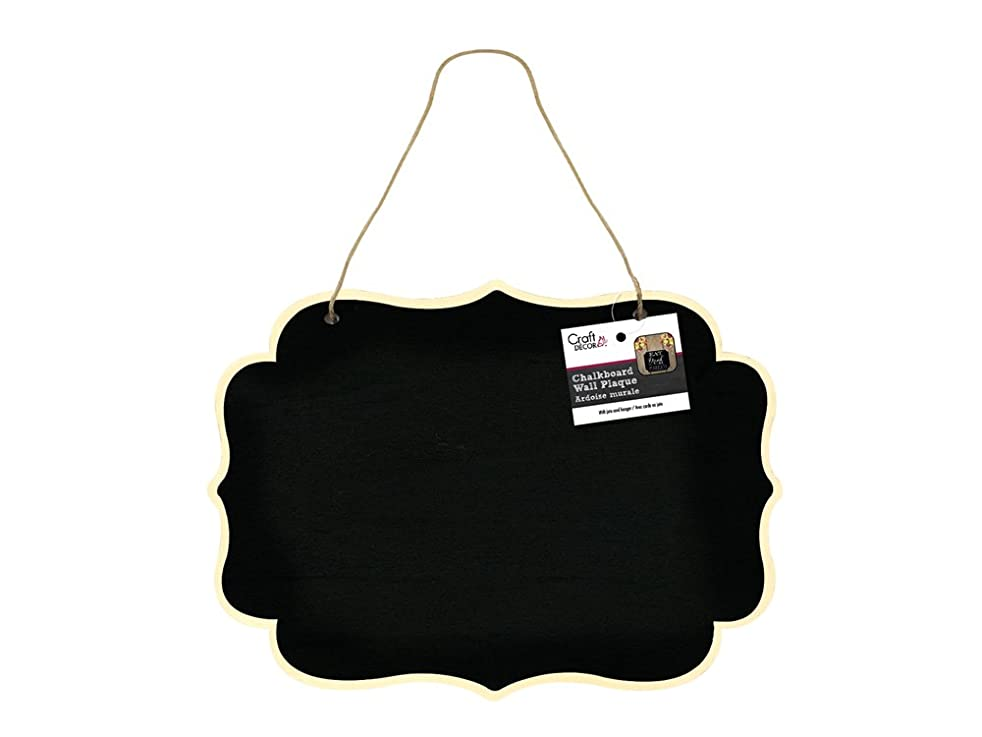 Craft Décor CD949C Chalkboard Wall Plaque with Jute Cord, Bracket