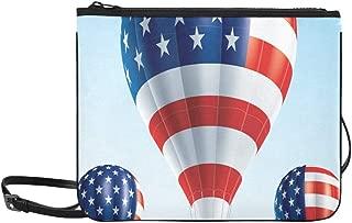 Hot Air Balloons Painted As Usa Flag Pattern Custom High-grade Nylon Slim Clutch Bag Cross-body Bag Shoulder Bag