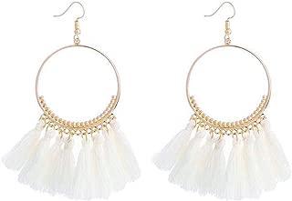 Boucles d/'oreilles créoles Big Round avec perles et cristaux Boucles