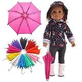 Zeagro Mini-Regenschirm, passend für 45,7 cm amerikanische Puppen, Puppenhaus,...