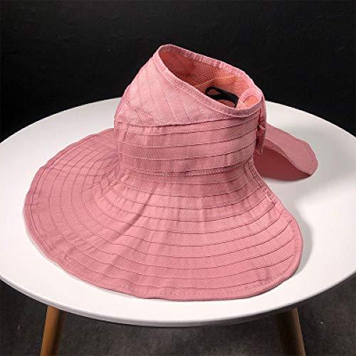QND,Sombrero,Verano Sombrero para el Sol para Padres e Hijos Mujer Wild Fashion Ride Sombreros para el Sol Plegables Sombreros Superiores vacíos Visera de ala Ancha Sombrero de Playa para