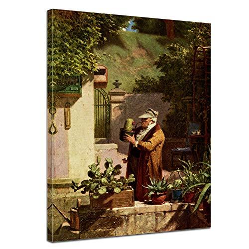 Wandbild Carl Spitzweg Der Kaktusfreund - 50x70cm hochkant - Wandbild Alte Meister Kunstdruck Bild...